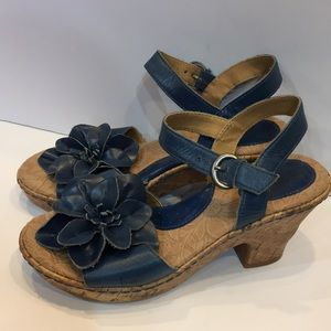 b.o.c. by Born Blue Leather Flower Sandal